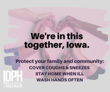 We are in This Together Iowa:  protect your family and community