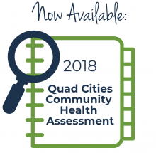 image of notebook and magnifying glass signifying Community Health Assessment Report