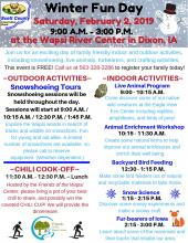 Flyer with winter fun day info listed below
