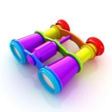 multi-colored binoculars