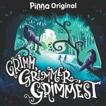 Logo for the Pinna original podcast Grim, Grimmer, Grimmest