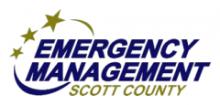 Emergency Management Scott County logo.
