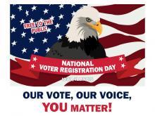 National Voter Registration day banner.