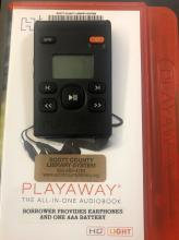This is a picture of a playaway audio device