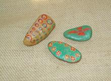 Hand-painted stones.