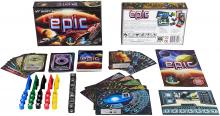 Tiny Epic Galaxies Space board game and its contents.