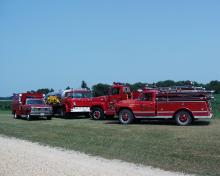 McCausland Fire Department fire trucks