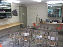 Small classroom at the Osprey Aquatic Lab.