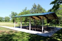 Drop Tine Shelter Scott County Park.