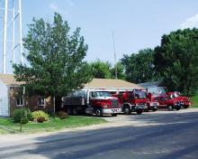 Long Grove Trucks with Station
