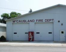 McCausland Fire Department building.