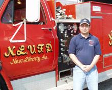 New Liberty Chief in front of Engine 1.