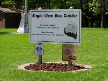 Sign to the Eagel View Eco Center.