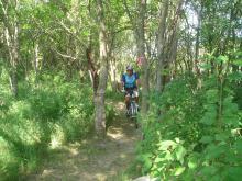 A biker on the trail.