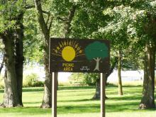 Prairie Sun Picnic Area location sign.