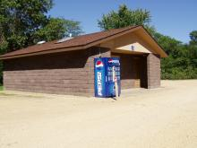 Restroom area at Sac-Fox Campground.