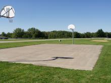 Basketball Court located near the shelter.