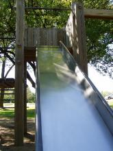 Slide located near the shelter.