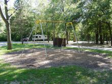 Swingsets at the campground