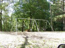Swingset next to the campground.