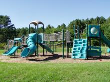 The playground at Buffalo Bill shelter.