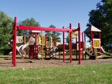 Playground equipment located near Hickory Hills shelter.