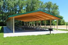 Running Deer picnic shelter.