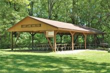 Cody Lake picnic shelter.