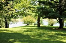 View of the lake from shelter area.