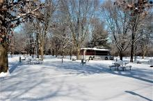 Park terrace campground in the winter.