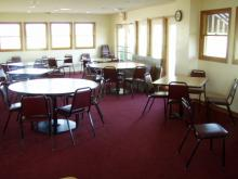 A seating area in the clubhouse.