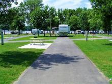 Open campsite at Buffalo Shores.