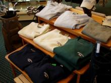 Merchandise in the proshop.