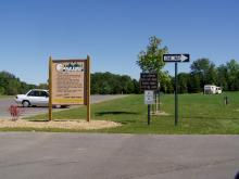 The entrance area of Bald Eagle Campground.