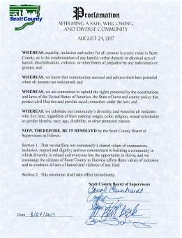 Picture of the signed resolution