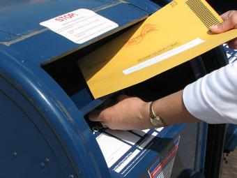 Dropping ballot in the mail