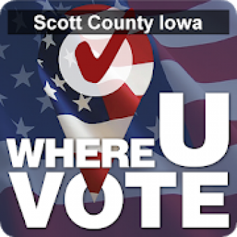 Logo of Where U Vote App.