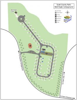 Graphical map of Bald Eagle Campground.