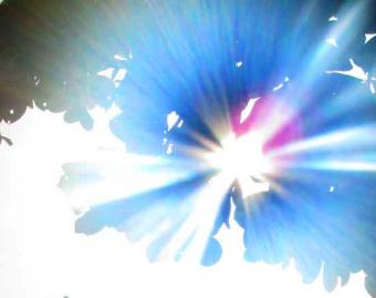 A blazing sun.