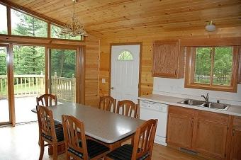 Pine Grove Cabin kitchen.