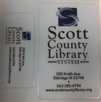 This is a picture of a Scott County Library Card