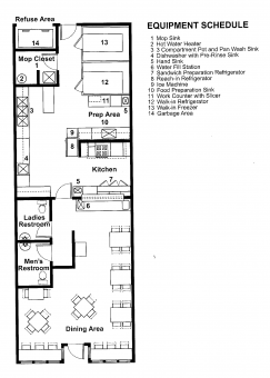 Example Restaurant Plan