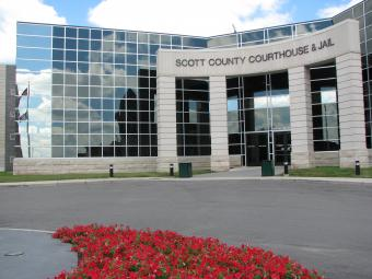Scott County Courthouse from entrance.