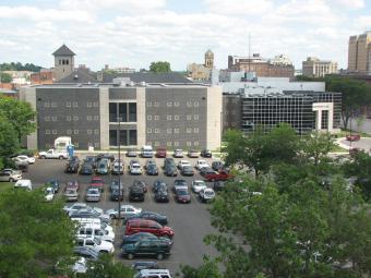 Scott County Jail as seen from across the street.