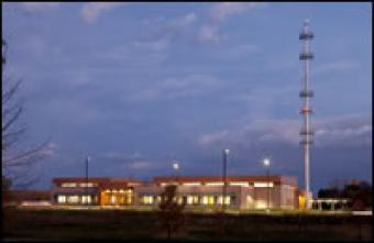 SECC building in the evening.