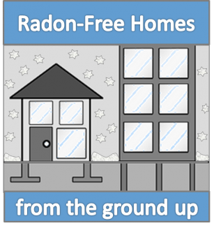Text: Radon-Free Homes from the ground up.