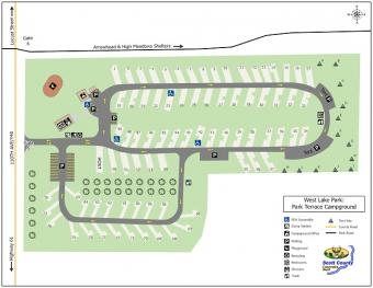 Graphical map of Park Terrace Campground.