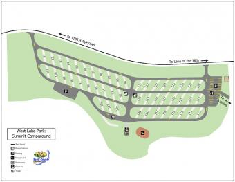 Graphical map of Summit Campground.