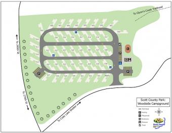 Graphical map of woodside campground.