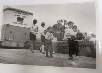 This is a picture of the 1976 bookmobile